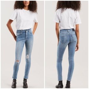 Levi's Made&Crafted 721 High Rise Ripped Knee Jean